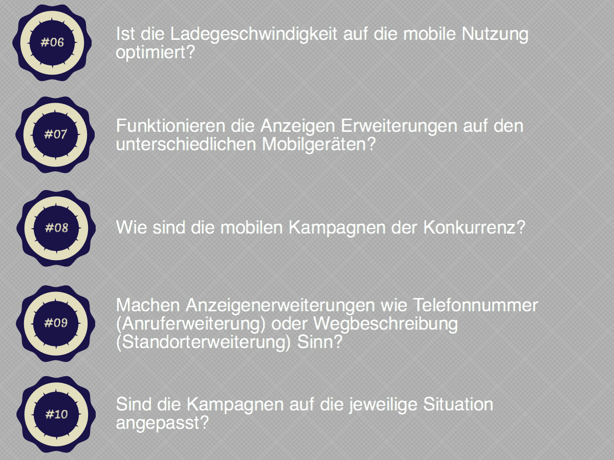 Mobile Kampagnen Checkliste